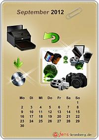Büroservice Jahreskalender  September 2012