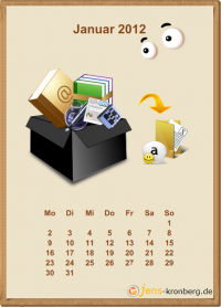 Büroservice Jahreskalender Januar 2012