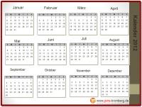 BüroService Kronberg Jahreskalender 2012
