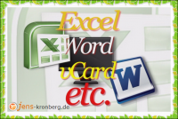 Büroservice Angebot Adressen in Excel, als vCard anlegen