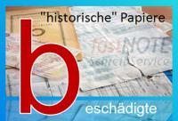 beschädigte, historische Papiere