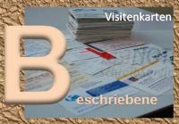Beschriebene Visitenkarten