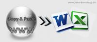 Büroservice Angebot Adressen per copy & paste in Excel, Word übertragen