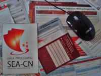 handschriftlich ausgefüllte Kundenkarten abtippen
