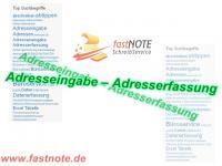 Adresseingabe - Adresserfassung