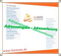 Schreibdienstleistungen - Adresseingabe, Adresserfassung