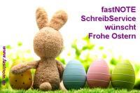fastNOTE SchreibService wünscht Frohe Ostern 2014