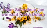 Unser Schreibservice wünscht Frohe Ostern 2014