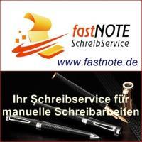 fastNOTE SchreibService 1