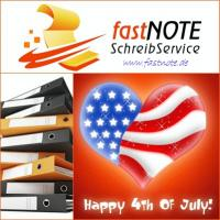 04.07.2015 Independence Day 2015 fastNOTE SchreibService