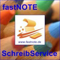 fastNOTE SchreibService f