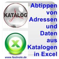 Abtippen von Daten aus Katalog in Excel 2