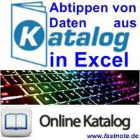 Abtippen von Daten aus Katalog in Excel 4