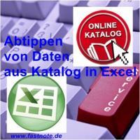 Abtippen von Daten aus Katalog in Excel 1