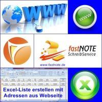 Excel-Liste erstellen mit Adressen aus Webseite