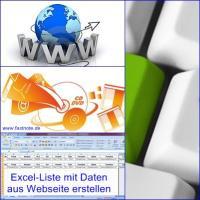 Excel-Liste mit Daten aus Webseite erstellen