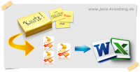 Büroservice Angebot handschriftliche Notizen abtippen in Excel, Word