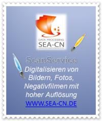 Scanservice Angebot digitalisieren von Bildern, Fotos, Negativfilmen mit hoher Auflösung