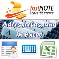 Adresserfassung in Excel