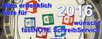 Gesundes Neues Jahr 2016 fastNote SchreibService a