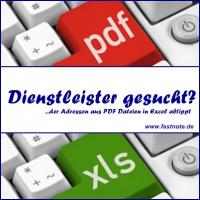 Dienstleister der Adressen aus PDF Dateien abtippt