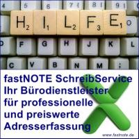 Bürodienstleister für Adresserfassung