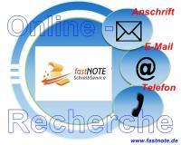 15.02.2017 Online-Recherche fastNOTE SchreibService