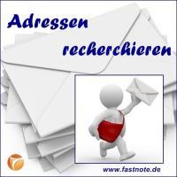 Richtige Postanschrift ermitteln fastNOTE SchreibService