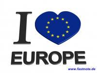 I love Europe fastNOTE SchreibService