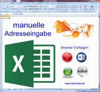 manuelle Adresseingabe in Excel Datei