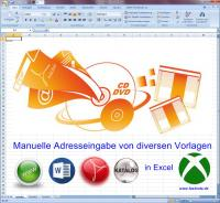 manuelle Adresseingabe in Excel Liste