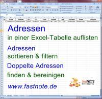 Adressen in Excel- Liste auflisten a