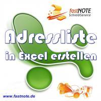 Adressliste in Excel erstellen a