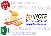 Adressen aus Online-Katalog in Excel