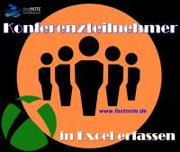 Konferenzteilnehmer in Excel erfassen