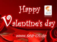 SEA-CN Co., Ltd. Scanservice wünscht seinen Kunden Happy Valentine´s Day