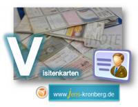 Schreibservice Glossar V - Visitenkarten