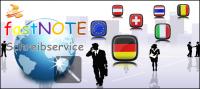 fastNOTE SchreibService-Ihr Schreibbüro für den deutschsprachigen Raum