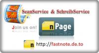 fastNOTE SchreibService präsentiert auf nPage sein Schreibservice Portfolio