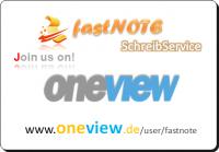 fastNOTE SchreibService präsentiert auf oneview Fotos mit Erläuterungen zum Schreibservice Portfolio