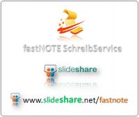 fastNOTE SchreibService präsentiert auf slideshare sein Büroservice, Scanservice und Schreibservice Portfolio