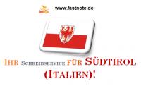 Ihr Schreibservice für Südtirol (Italien)