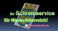Ihr Schreibservice für Niederösterreich