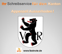 Ihr Schreibservice für den Kanton Appenzell Ausserhoden