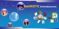 fastNOTE SchreibService - Schreibservice erledigt Adresseingabe und Datenerfassung
