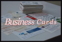 Business Cards in Excel abtippen
