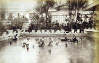 1890s – Siam princess and princesses in a palace pond