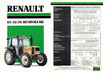 Renault 65-32 - 34 MX MS MA ME