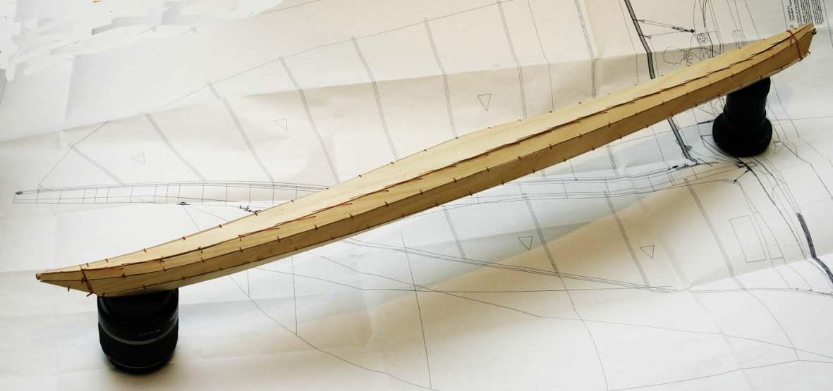 Maßtabelle für Rob Roy Kanu in Stitch and Glue Bauweise