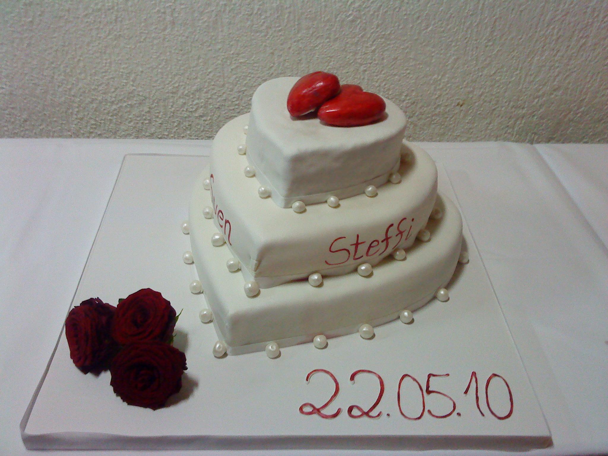 Herz-Hochzeitstorte